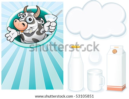 Milk -design elements - stock vector