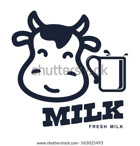 Milk Elegant Vector Logo Template Label Stock Vector 563025493