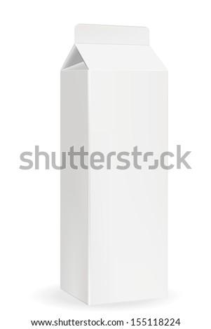 Milk or juice pack. EPS-10 - stock vector