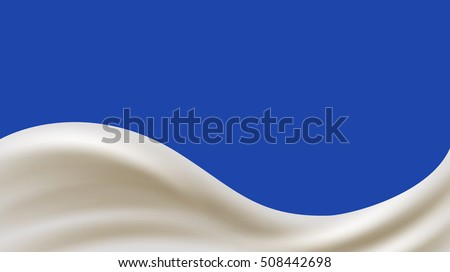 Milk or yogurt wave vector banner. Vector illustration