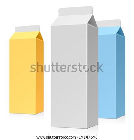 Milk pack. Vector.