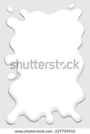 Milk splash frame vector - stock vector