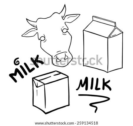 milk symbols set collection - stock vector