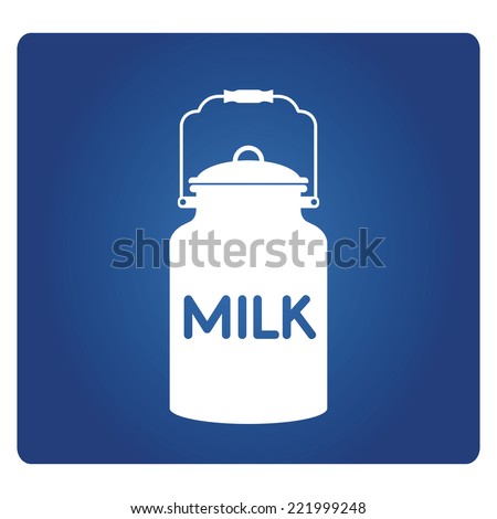 milk urn, milk jug - stock vector