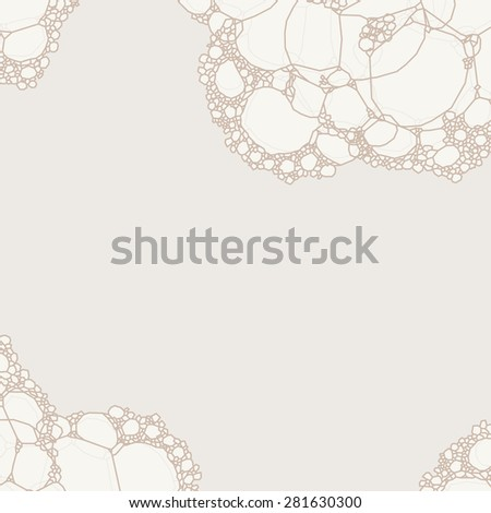 Milk (water) foam bubbles on bright background - stock vector