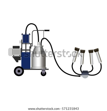 Milking Machine Vector Illustration Stock Vector Hd Royalty Free