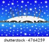 Millennium dome in winter with falling snow - stock vector