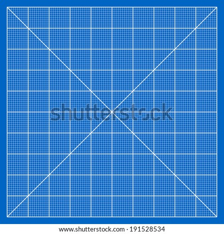 Millimeter paper grid vector, 100mm square pattern - stock vector