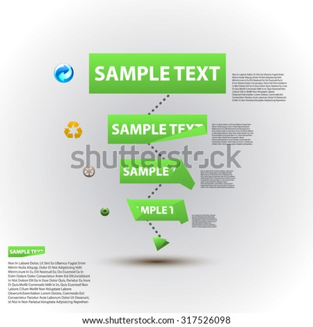 mind map white green - stock vector
