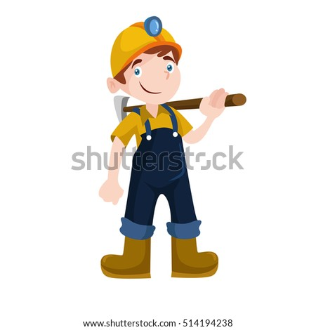 Mine Professional Worker Miner Vector