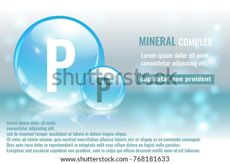 Mineral P Phosphorus Complex Chemical Element Stock Vector 768181633