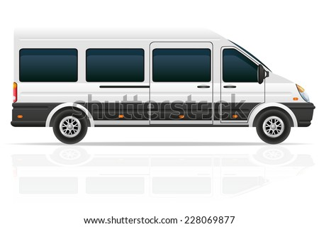 mini bus for the carriage of passengers vector illustration isolated on white background