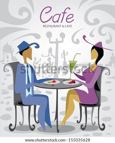 Mini Cafe - stock vector
