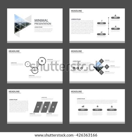 minimal and simple presentation templates infographic elements flat design set for brochure flyer leaflet marketing advertising