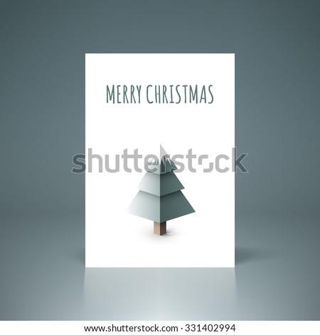 Minimal christmas flyer design vector stock eps 10 illustration - stock vector