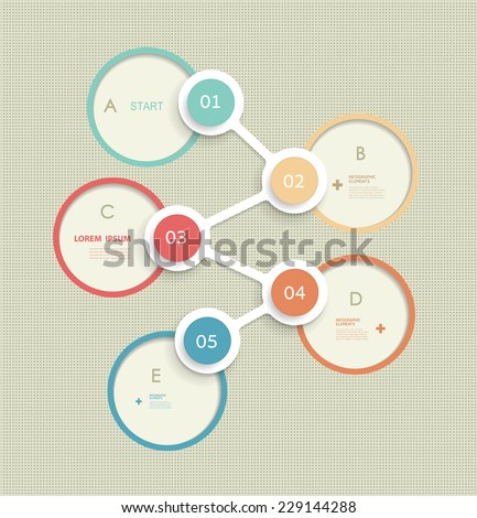 Minimal circles infographic template design. label design with  place for your content.communication, business, social media, technology, network and web design.  - stock vector