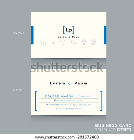 Minimal clean design business card Template - stock vector