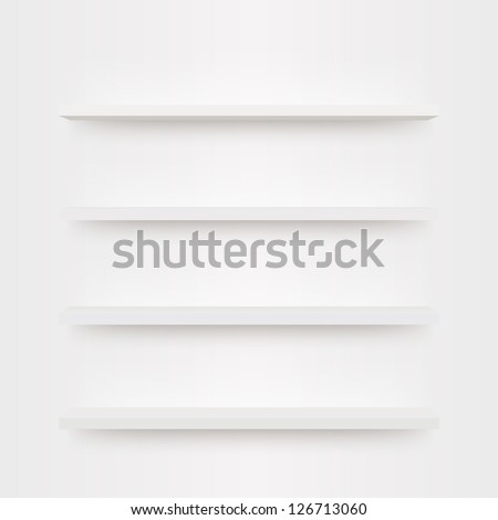 Minimal 3d bookshelf design vector - stock vector