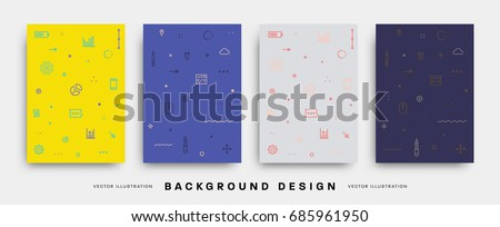 Minimal Design Covers Templates set. Vector illustrations.
