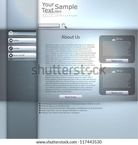Minimal Elegant Web Site Template vector - stock vector