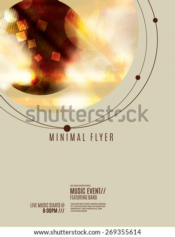 Minimal flyer or poster template design - stock vector