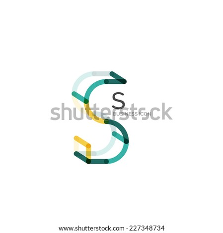 Minimal font or letter logo design isolated on white - stock vector