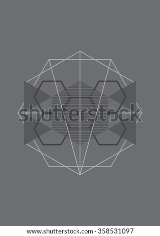 minimal geometric graphic background, abstract shape vector illustration