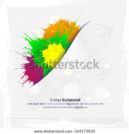 Background Polygons Cut Paper Design Template Lagervektor – Paper Design Template
