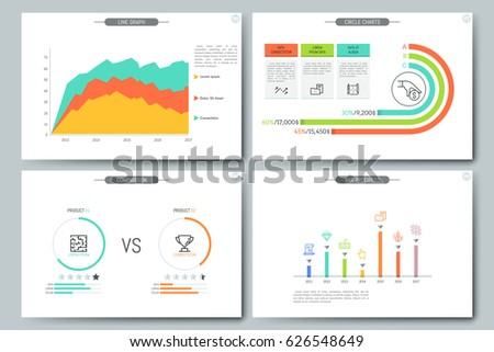 Minimal Infographic Brochure Template Pages Comparison Stock Vector ...