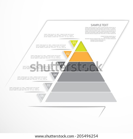 Minimal infographic design, template for your presentation - stock vector