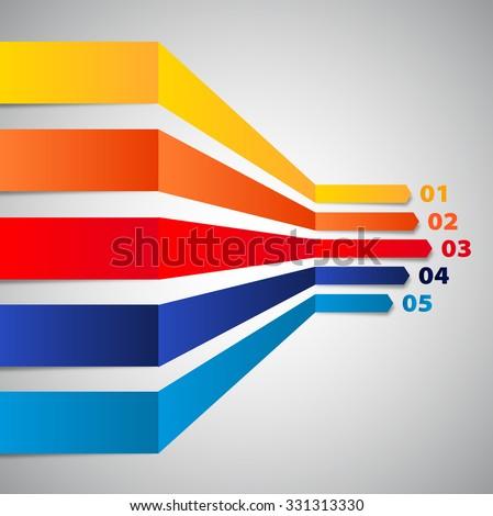 Minimal infographic design, vector website template, horizontal lines in perspective - stock vector