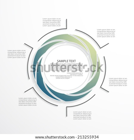 Minimal infographic template - stock vector