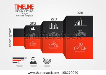 Minimal infographics design.Timeline. Vector - stock vector