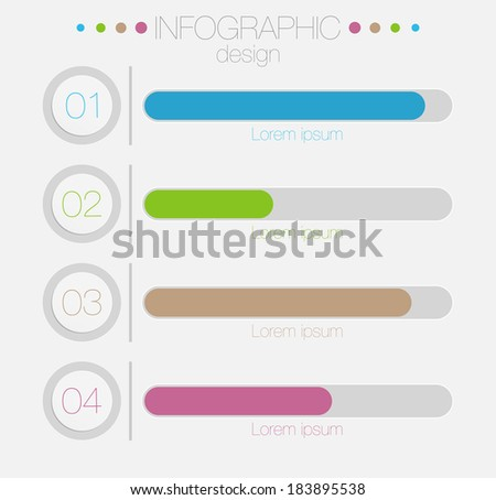 Minimal infographics design-vector illustration