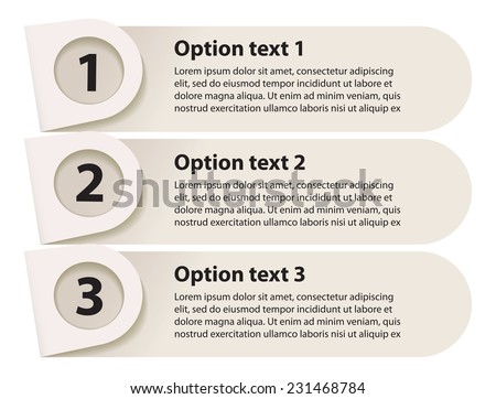Minimal infographics. Sequence number. Vector illustration. Isolated on white background. Set - stock vector