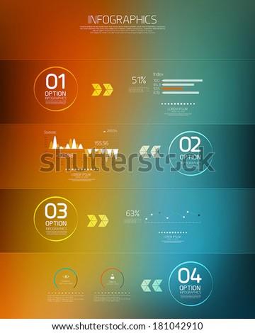 Minimal infographics-Transparent  design. Vector - stock vector