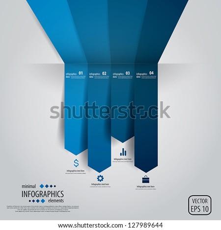 Minimal infographics. Vector - stock vector