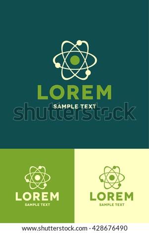 Minimal Logo - Atom  - stock vector