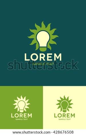 Minimal Logo - Bulb  - stock vector