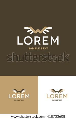 Minimal Logo - Wing   - stock vector
