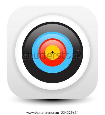 Minimal modern archery target icon - stock vector
