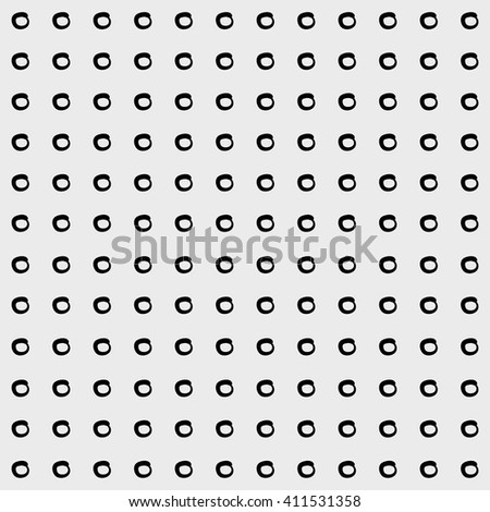 Minimal monochrome handwritten pattern dots, rounds