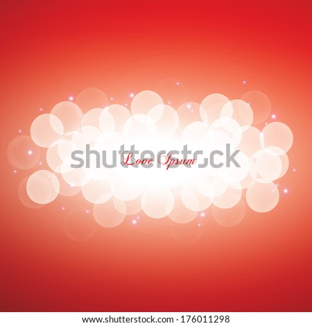 Minimal scalable shiny bokeh light background for web page, brochure, layout - red edition - stock vector