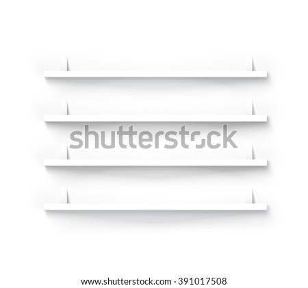 Minimal Shelves for Your Products Illustration - stock vector