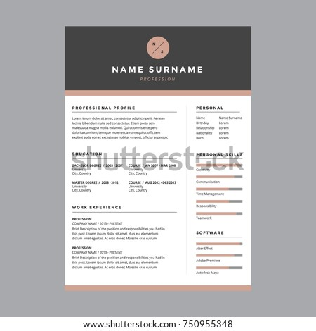 cv template with design image collections certificate design and