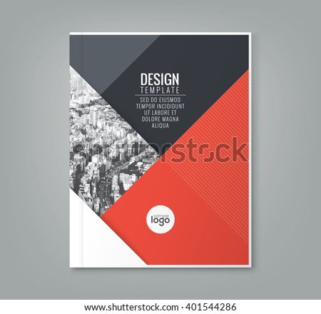 Minimal Simple Red Color Design Template Stock Vector ...