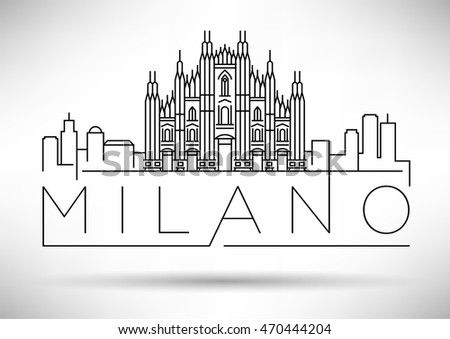 Milan skyline stock images royalty free images vectors for Design city milano