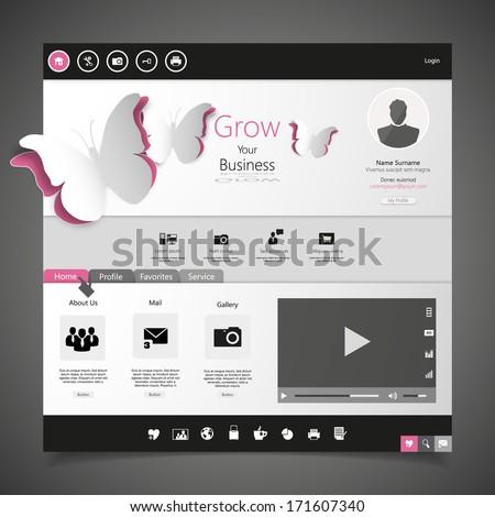 Minimal Website Design  - stock vector