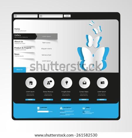 Minimal Website Template Design  - stock vector