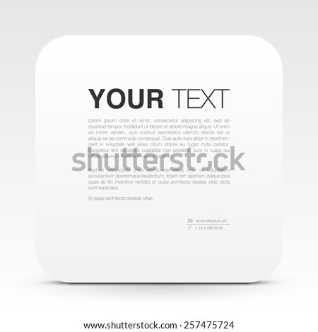 Minimal white text box design for your content. vector stock eps 10 illustration - stock vector
